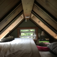 It's cozy to sleep here, but feels more spacious than it looks!